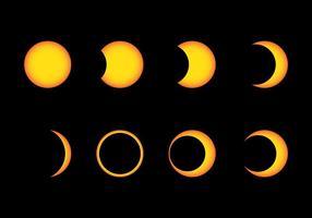 Ícones do vetor Eclipse Solar