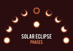 Fases do eclipse solar vetor