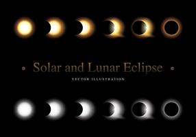 Vetor Solar E Lunar Eclipse