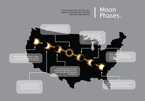 Eclipse Solar Phases Vector