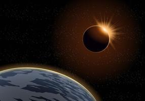 Vetor Total Eclipse Solar