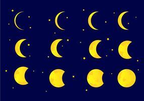 Ilustração vetorial da fase eclipse vetor