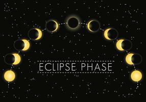 Vetor de fase de eclipse solar