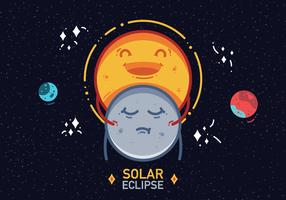 Vetor de eclipse solar 2017 grátis
