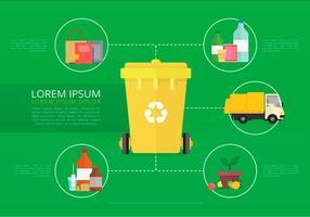 Vida da Natureza. Processo de Reciclagem. vetor