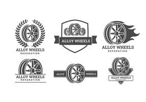 Liga de roda Logos Vector grátis