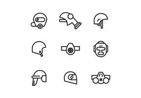 Conjunto de capacetes e vetores respiradores