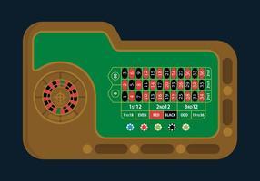 Ilustração da tabela de roleta vetor