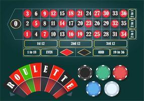 Conjunto de Tablete de Casino Roulette vetor