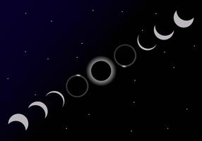 Vector do ciclo do eclipse solar