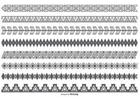 Formas de borda de estilo étnico vetorial vetor