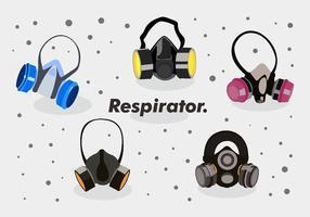Pack vectorial de máscara respiratória vetor