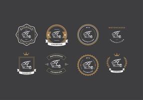 Logotipo da competição do motorcross vetor livre