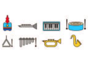 Conjunto de ícones da banda de marcha vetor