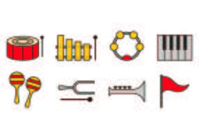 Conjunto de ícones da banda de marcha