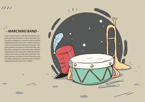 Ilustração vetorial do instrumento de banda vetor