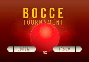 Ilustração do torneio de Bocce vetor
