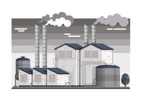 Ilustração industrial do vetor Smokestacks