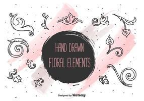 Conjunto de vetores de elementos florais