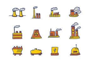 Ícone de Fábrica e Indústrias vetor