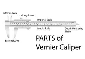 Calibre Vernier Realista vetor