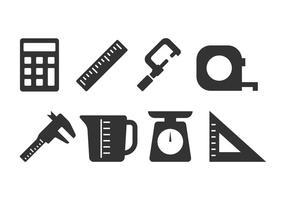 Conjunto de ícones de medição