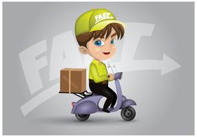 Vector de personagem de entrega de motor livre