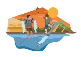 Ilustração gratuita do esporte de jato d'água vetor