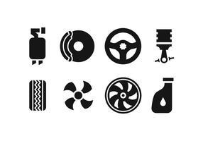 Ícones de peça de reposição de carro vetor