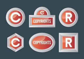 Ícones livres de direitos autorais vetor