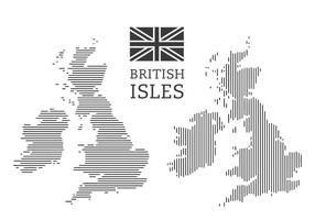 Mapa das Ilhas Britânicas vetor