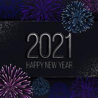 ilustração de fogos de artifício de ano novo