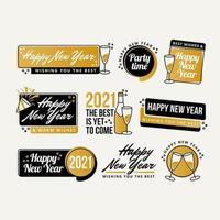Rótulos de ano novo de 2021