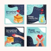 dia internacional dos cartões de caridade vetor