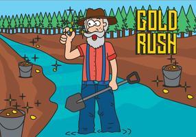Ilustração do vetor Rush do Ouro