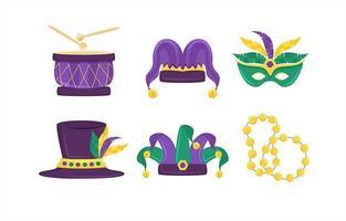 elementos da festa de carnaval vetor
