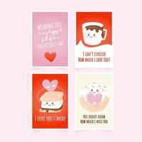 cartões criativos do dia dos namorados vetor