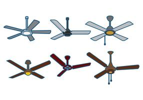 Conjunto de vetores de ventilador de teto