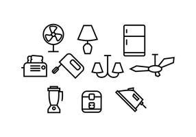Livre vetor de ícones de eletrodomésticos