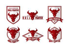 Logotipo da cabeça do lutador do touro vetor livre