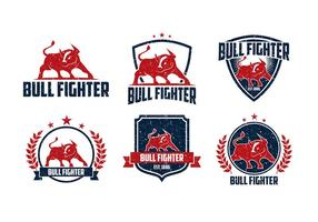 Touro lutador áspero logotipo vetor livre