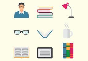 Ícones de Bookworm vetor