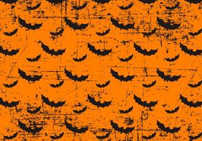 Grunge halloween bats background vetor