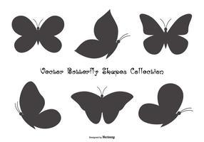 Coleção de formas de borboleta vetor
