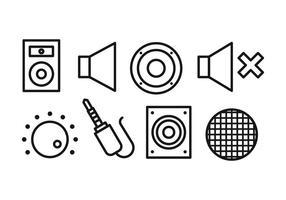 Conjunto de ícones do orador vetor