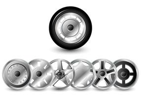 Pacote Vector Hubcaps