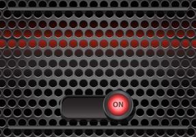 Grill de alto-falante com vetor de botão On