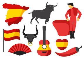 Vetor de ícones da Espanha grátis