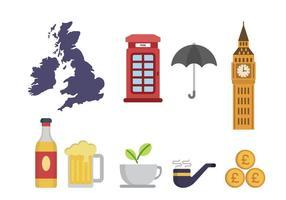 Flat Reino Unido Vetores