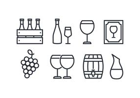 Pacote de ícones do vinho vetor